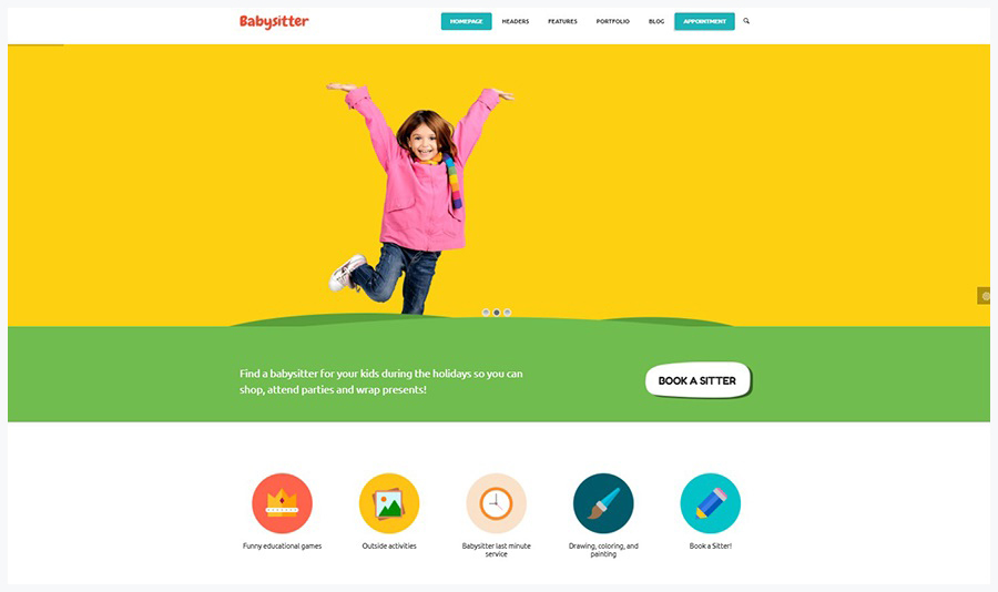 Kids Care | Многофункциональный WordPress Шаблон для Детских Сайтов