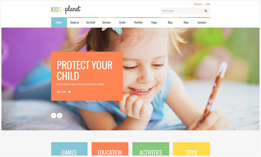 Kids Planet | Многофункциональный WordPress Шаблон для Детских Сайтов