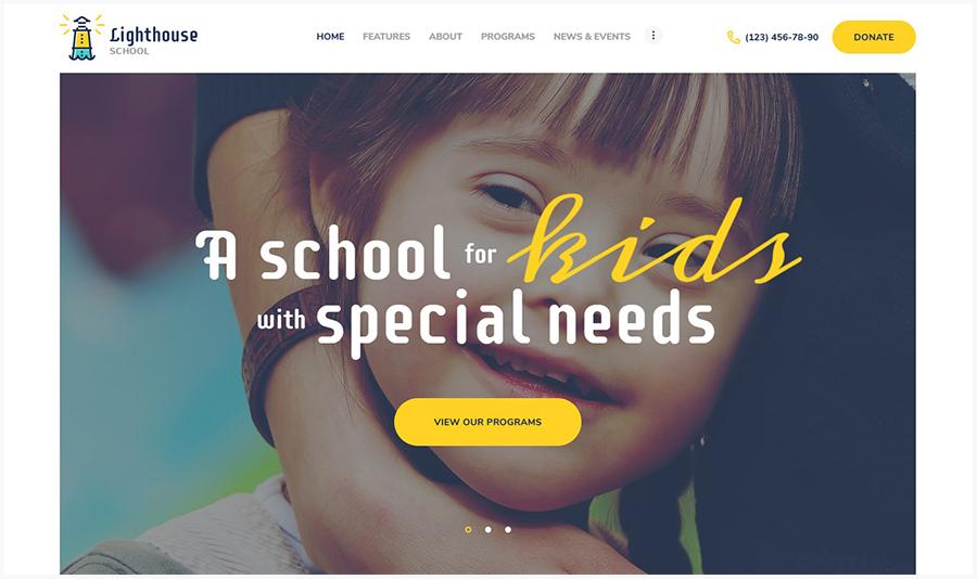 Lighthouse | WordPress Шаблон Школы для Детей со Специальными Потребностями