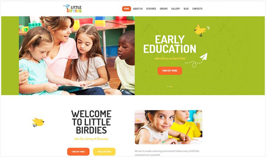Little Birdies | Многофункциональный WordPress Шаблон для Детских Сайтов
