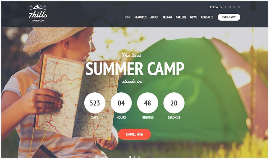 SevenHills | WordPress Шаблон для Летнего Лагеря