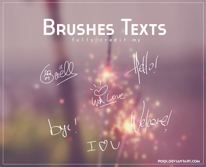 Brushes Texts