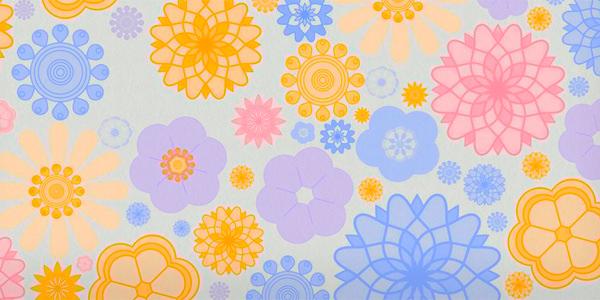 Spring Flower Ornament Brushes
