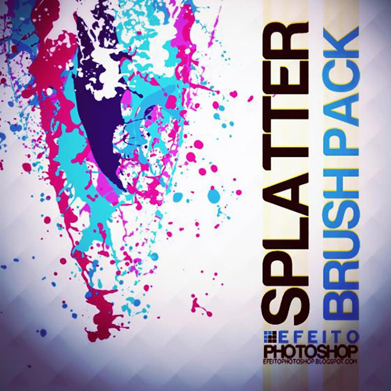 Cool Splatter Free Brush Set