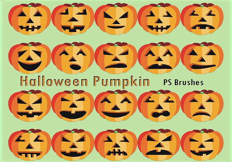 Halloween Pumpkin PS Brushes