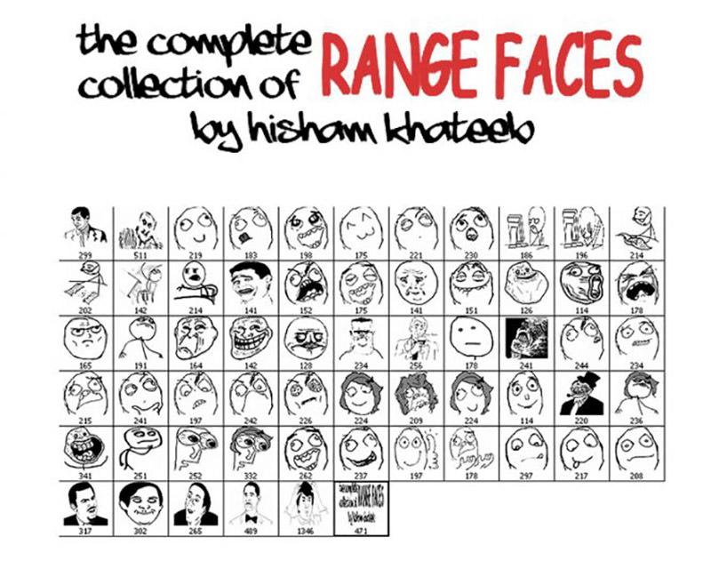 Memes Range Faces Brushes