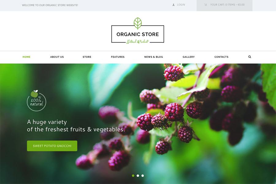 Organic Store | Шаблон для магазина органической еды и экологически чистых продуктов