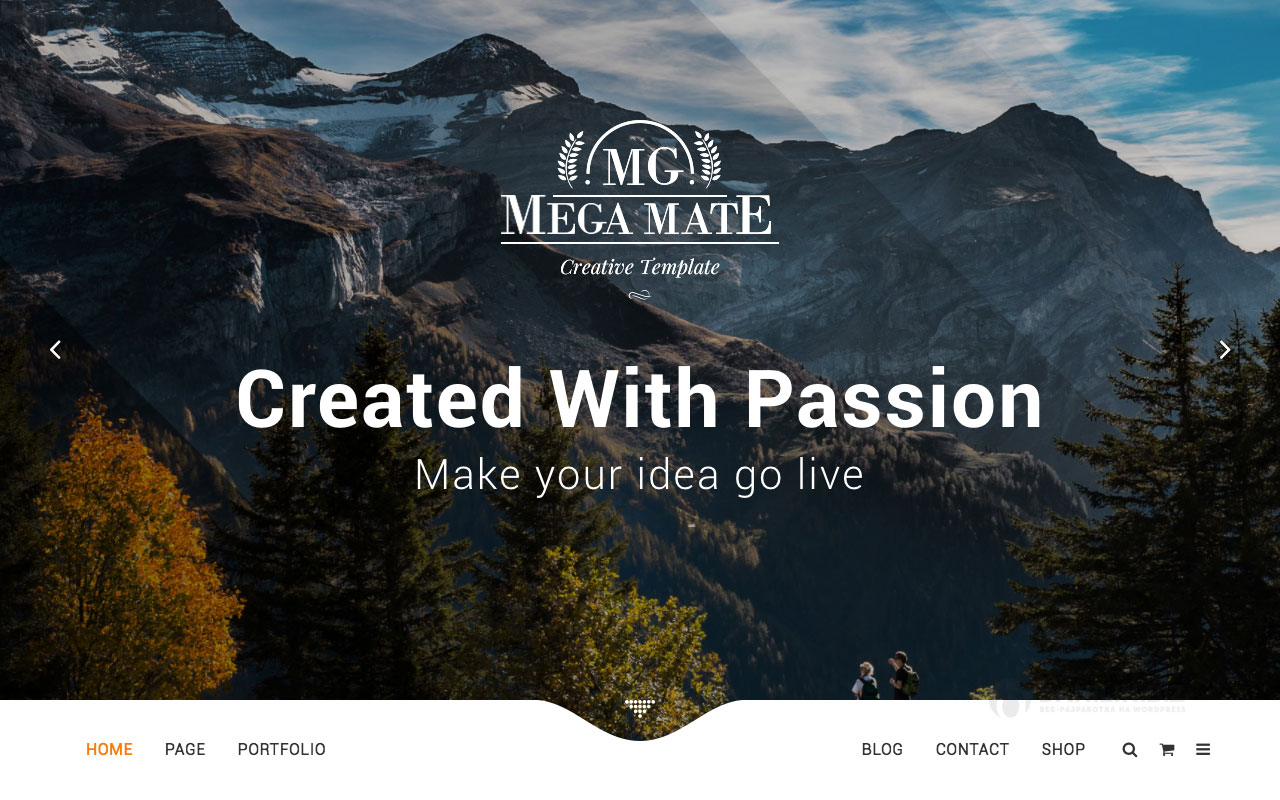 1. MegaMate — творческая многоцелевая тема Вордпресс