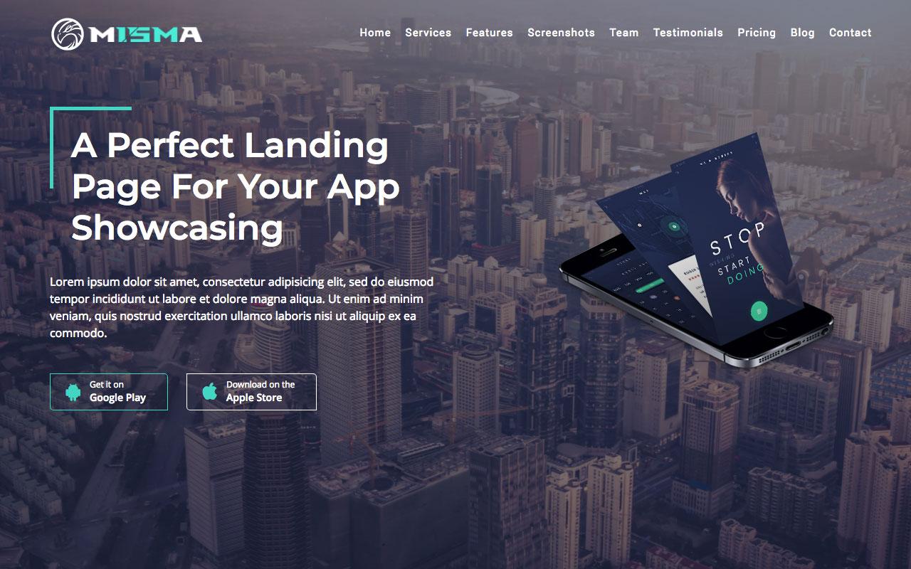 2. Misma — тема мобильного приложения с блогом