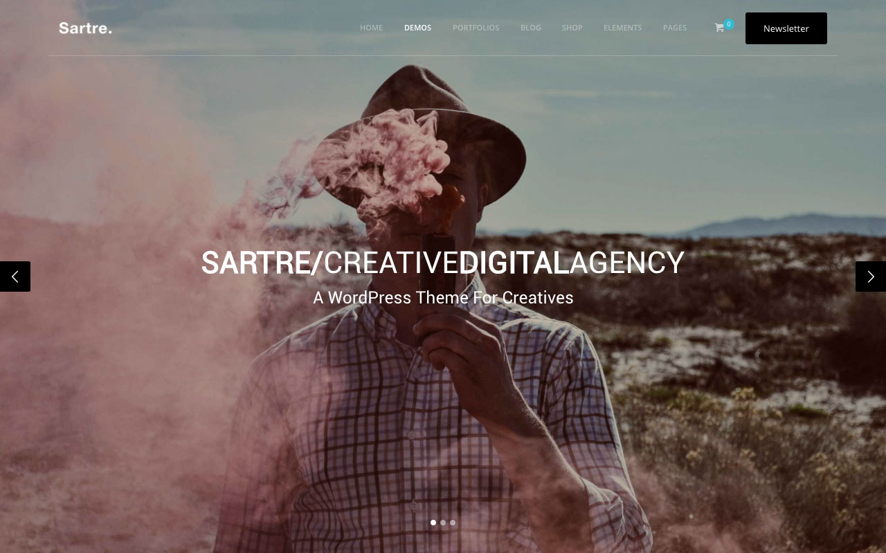 4. Sartre — адаптивная многоцелевая тема для Вордпресс