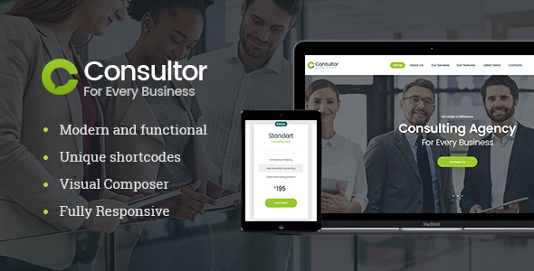 Consultor — Business Consulting WordPress Theme