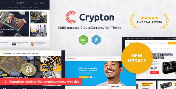 Crypton — Multi-Purpose Cryptocurrency WordPress Theme
