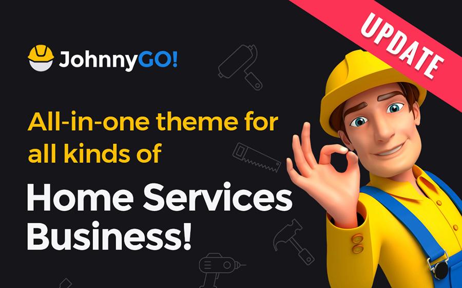 JohnnyGo — красочный многоцелевой WordPress шаблон для сайта ремонтных услуг