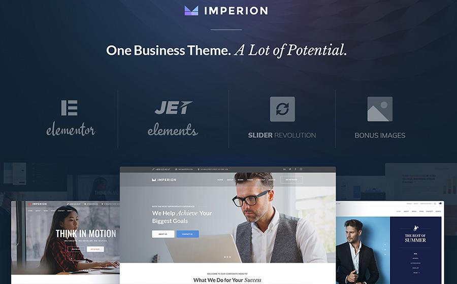 Imperion — адаптивный и многоцелевой WordPress шаблон для бизнеса