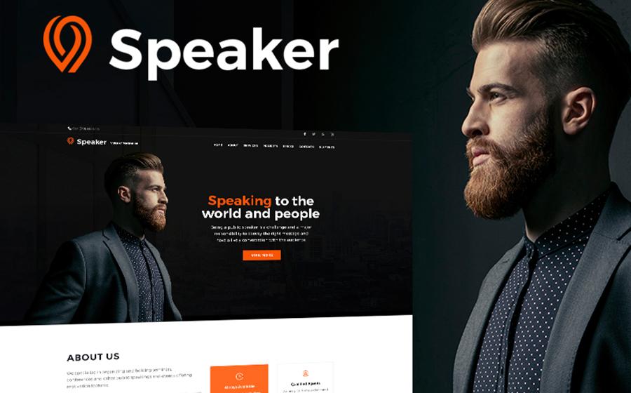 Speaker — изысканный WordPress шаблон для создания сайта личного консультанта