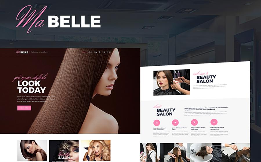 MaBelle — нежный шаблон WordPress для создания сайта салона красоты