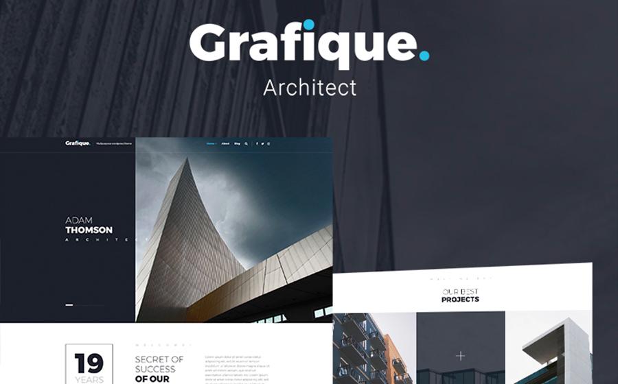 Grafique — необычный шаблон WordPress для сайта архитектурной компании