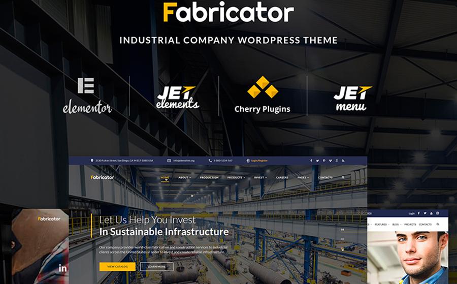 Fabricator — красивый шаблон WordPress сайта для промышленной компании