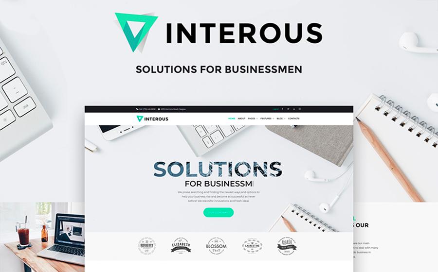 Interious — стильный шаблон WordPress сайта услуг по продвижению бизнеса