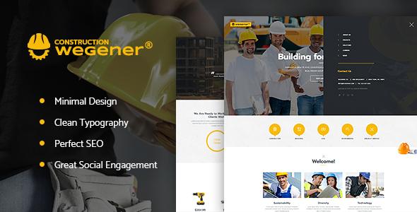 Wegener — Construction & Engineering WordPress Theme