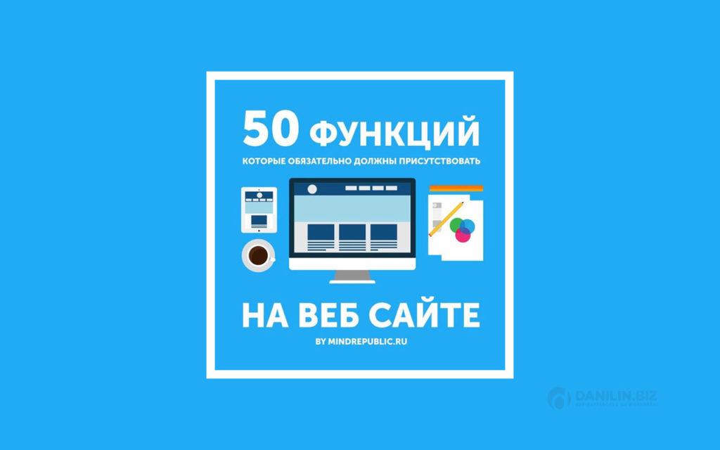 50 функций, которые обязательно должны присутствовать на сайте