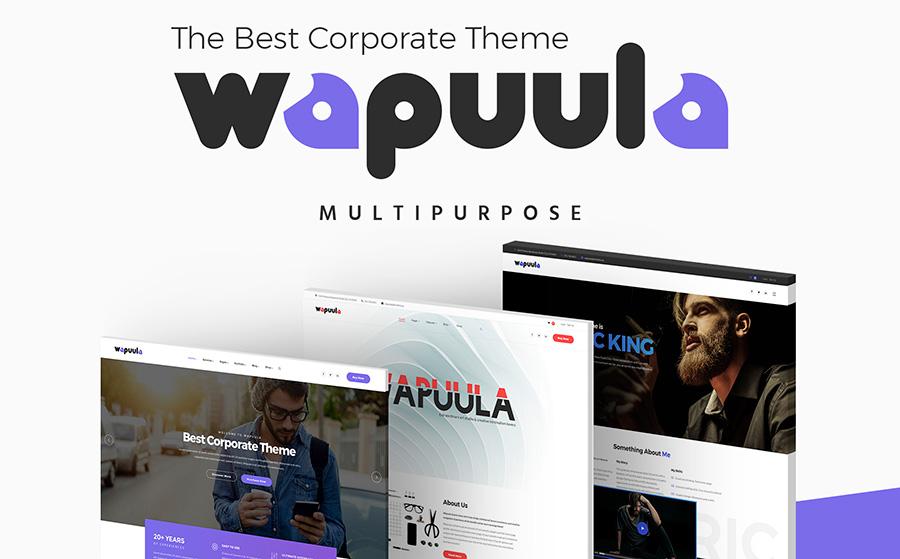 3. Wapuula – многоцелевой WordPress шаблон для корпоративного портала