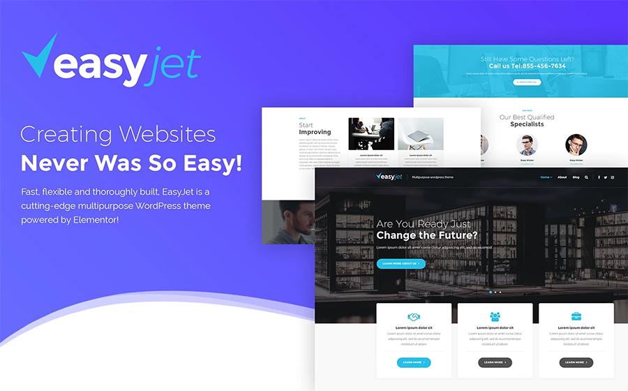 1. EasyJet – быстрый многоцелевой WordPress шаблон