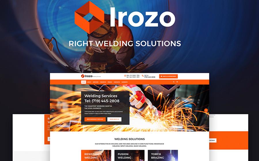 8. Irozo – шаблон WordPress для сайта металлургической компании