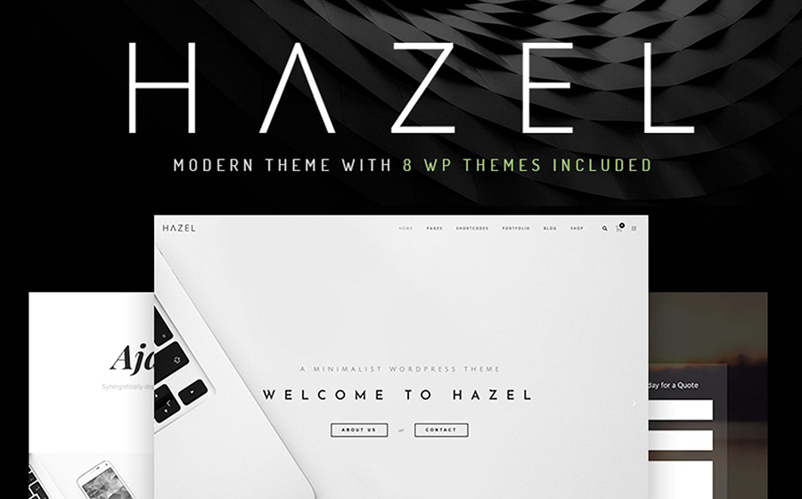 5. Hazel - многоцелевой WordPress шаблон