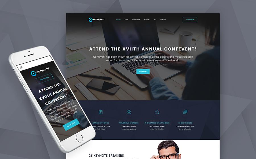 Confevent – WordPress лендинг для организации мероприятий