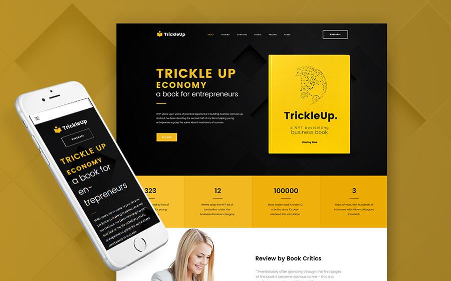 TrickleUp – WordPress лендинг для презентации онлайн-книг