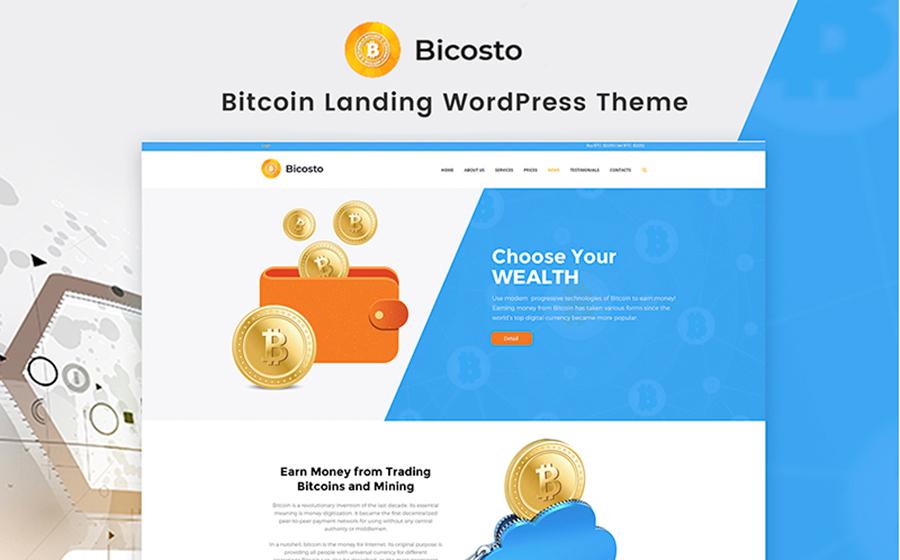 Bicosto – WordPress тема для презентации криптовалютного/финансового проекта