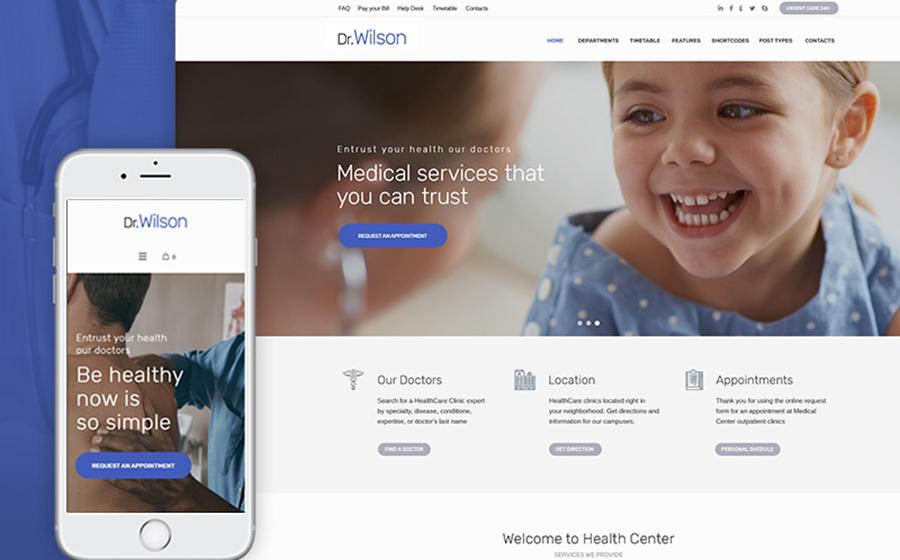 Dr. Wilson – WordPress лендинг для презентации медицинских услуг