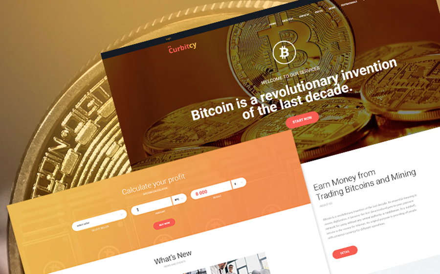 Curbitcy – WordPress шаблон для криптовалютного проекта