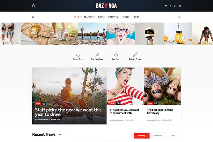 Bazinga | Вордпресс шаблон для новостного портала и блога