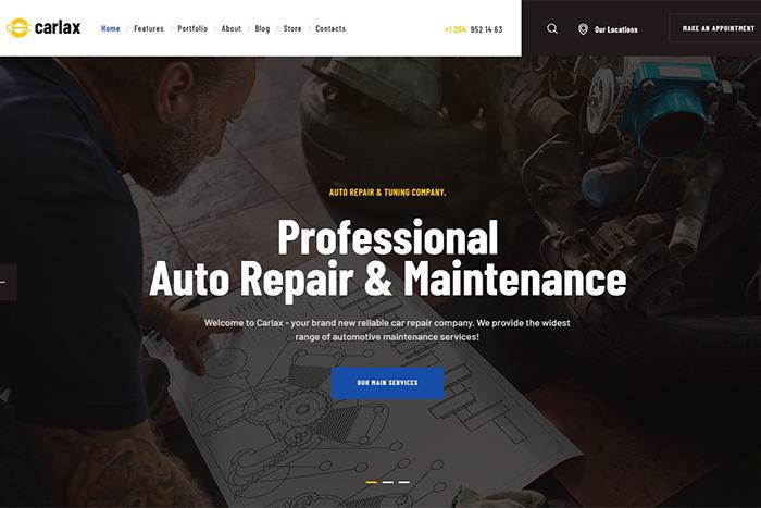 Carlax | Вордпресс шаблон для авто-сервиса