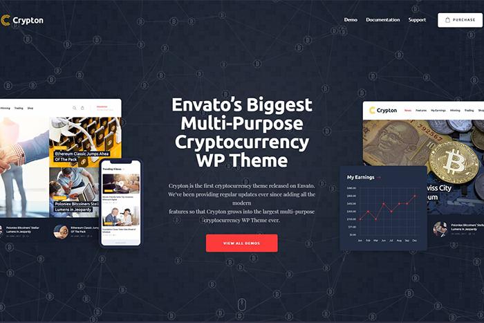 Crypton | Мультицелевой криптовалютный Вордпресс шаблон