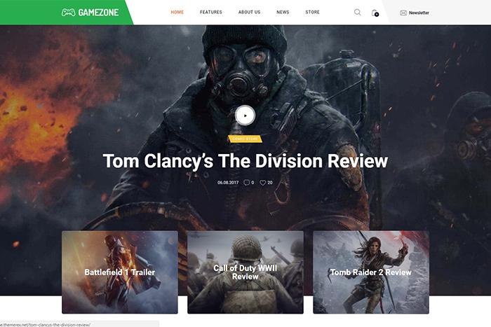 Gamezone | Вордпресс шаблон для магазина и блога об играх