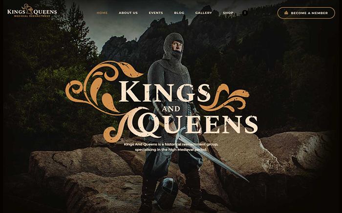 Kings & Queens | Вордпресс шаблон для воссоздания исторических событий