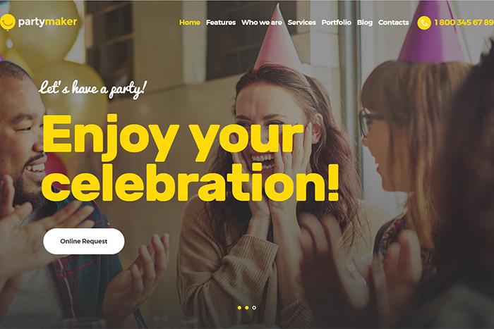 PartyMaker | Вордпресс шаблон для организации мероприятий