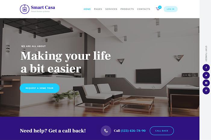 Smart Casa | Вордпресс шаблон на тему Умный дом