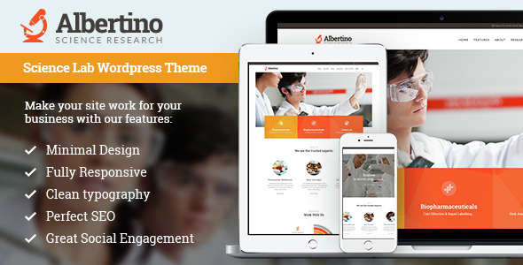 Albertino — Science Research & Technology WordPress Theme