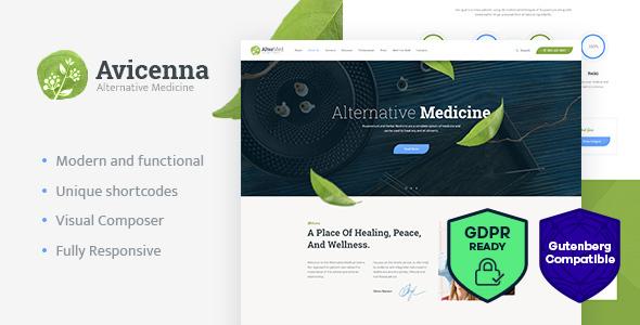 Avicenna — Alternative Medicine WordPress Theme