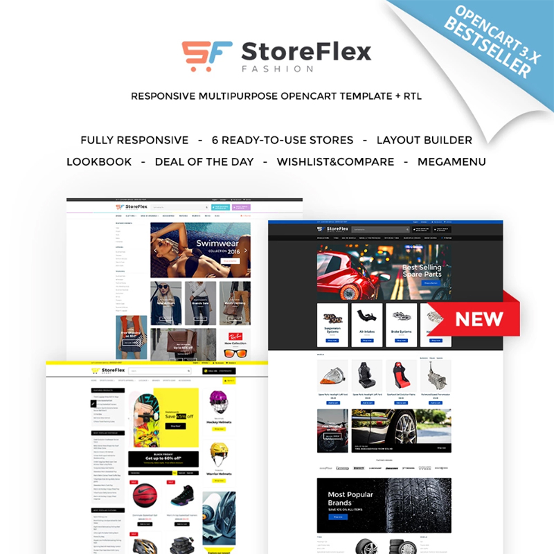 StoreFlex — многоцелевой OpenCart шаблон