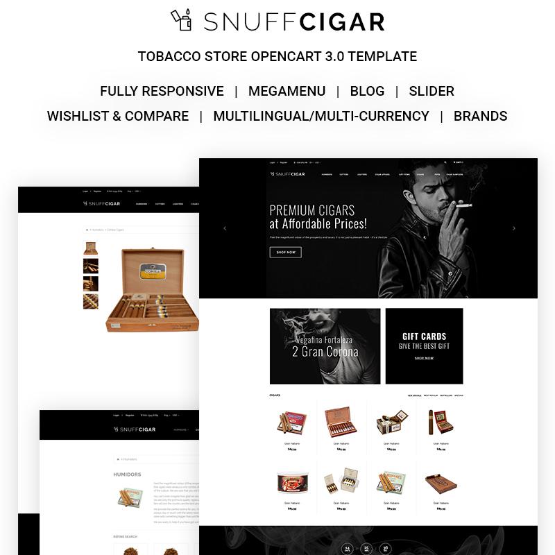 SnuffCigar — OpenCart шаблон для сайта магазина сигарет