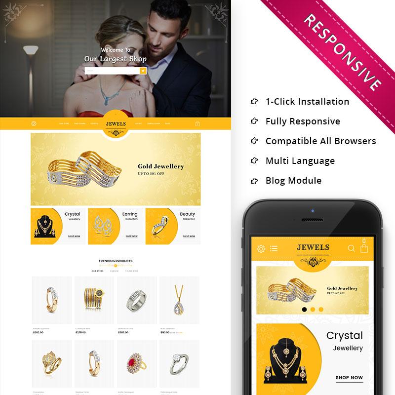 Jewels — OpenCart шаблон для сайта ювелирного магазина