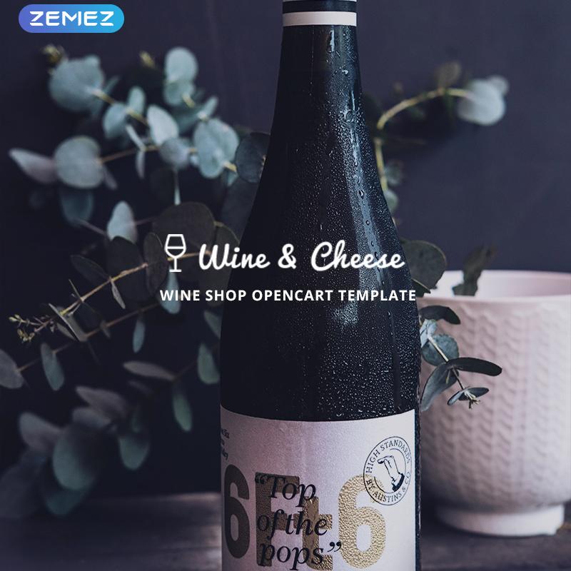 Wine & Cheese — OpenCart шаблон для сайта винного магазина