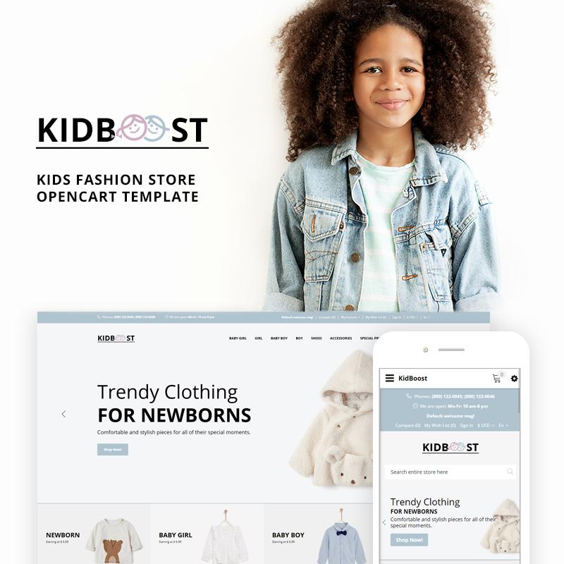 KidBoost — OpenCart шаблон для сайта детской одежды