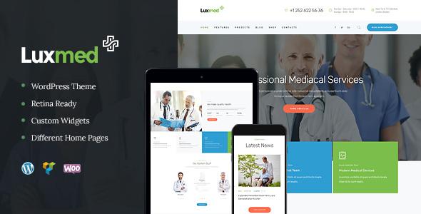 LuxMed — Medicine & Healthcare WordPress Theme