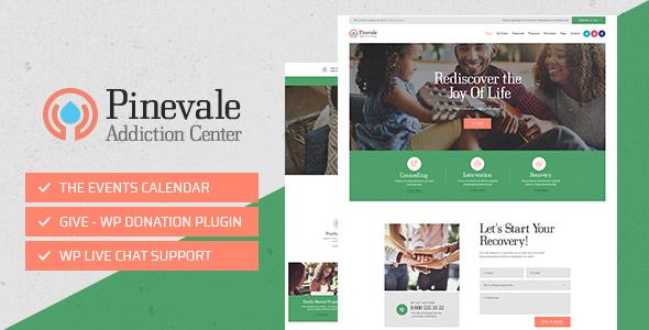 Pinevale — Addiction Recovery and Rehabilitation Center WordPress Theme